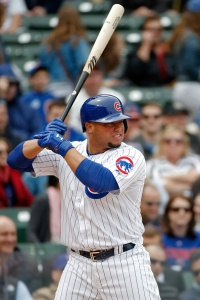 CHICAGO, IL - May 14: Welington Castillo #5 of the Chicago Cubs at bat against the New York Mets during the second inning on May 14, 2015 at Wrigley Field in Chicago, Illinois. (Photo by Jon Durr/Getty Images)