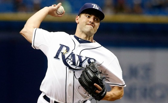 ST. PETERSBURG, FL - AUGUST 25:  Nathan Karns #51 of the Tampa Bay Rays pitches during the first inning of a game against the Minnesota Twins on August 25, 2015 at Tropicana Field in St. Petersburg, Florida.  (Photo by Brian Blanco/Getty Images) *** Local Caption *** Nathan Karns